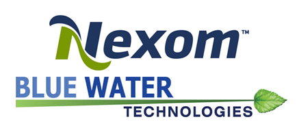 nexom blue water tech logos